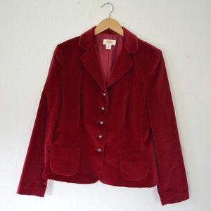 Talbots Beautiful Red Velvet Blazer